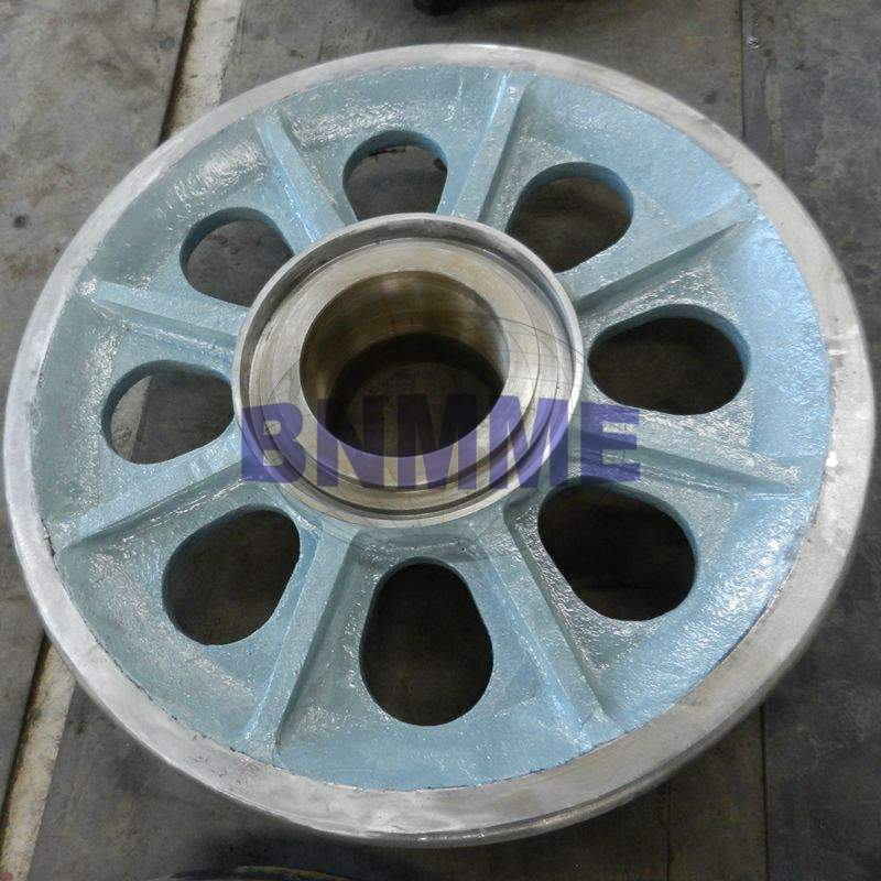 support wheel for heavy mining equipment